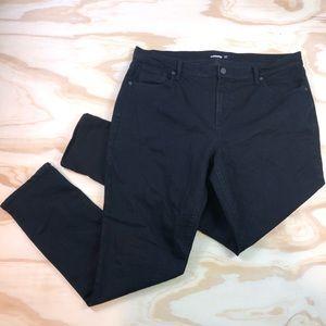 Old Navy Curvy Skinny Black Denim Womens Jeans